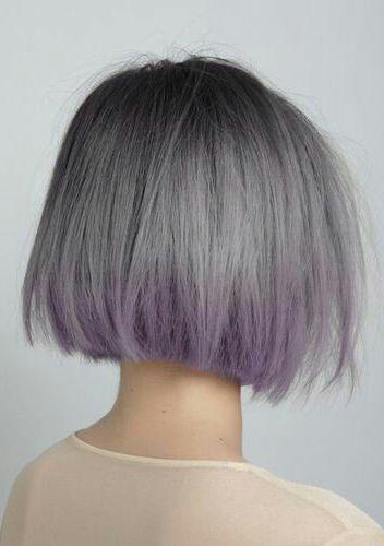 Grey & lavender ombré