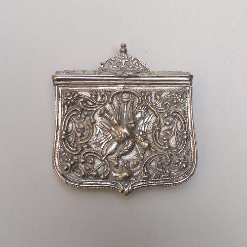 Silver gun powder case