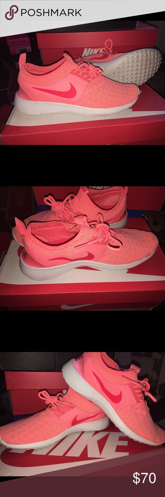 SOLD!!! Pink and white running sneakers,Nike slide ons Nike Shoes Athletic Shoes