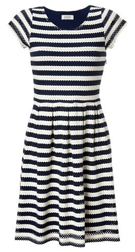 I once saw a woman wearing this striped dress on the subway and complimented her on it. I think she said she got it at #Bloomingdale's. Love!