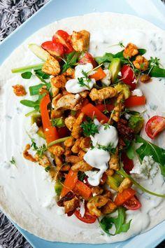 Hähnchen-Wraps mit Honig-Senf-Dressing - Gaumenfreundin - Food & Family Blog (Low Carb Shrimp)