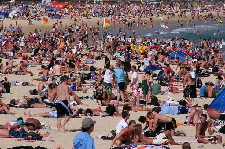 Bondi Beach at Christmas Day