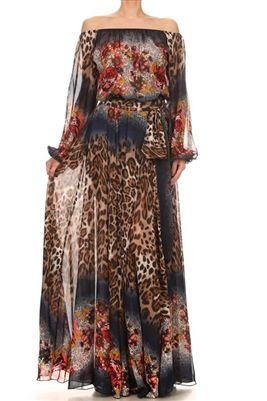 43103fb4bfa Cheetah Print Sheer Maxi Dress Cheetah print sheer