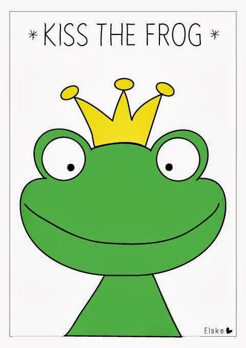 Kus de kikker! Feesthit blindemannetje voor prinsessen.| Elske | www.elskeleenstra.nl #printable