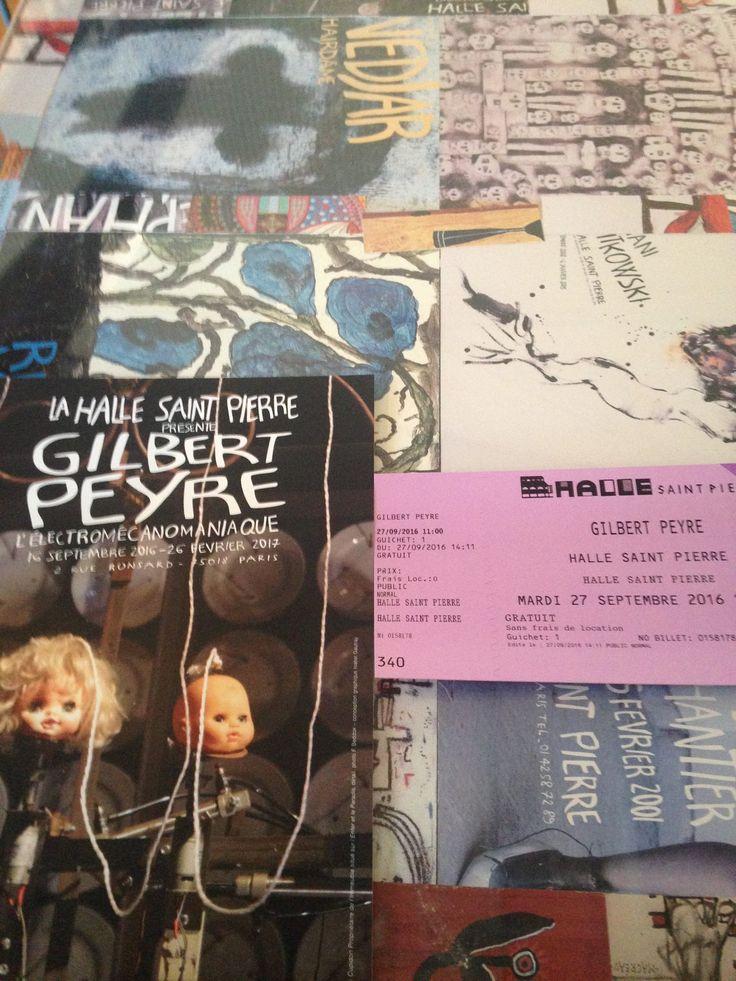 L'expo Gilbert Peyre à la Halle Saint-Pierre à Paris.