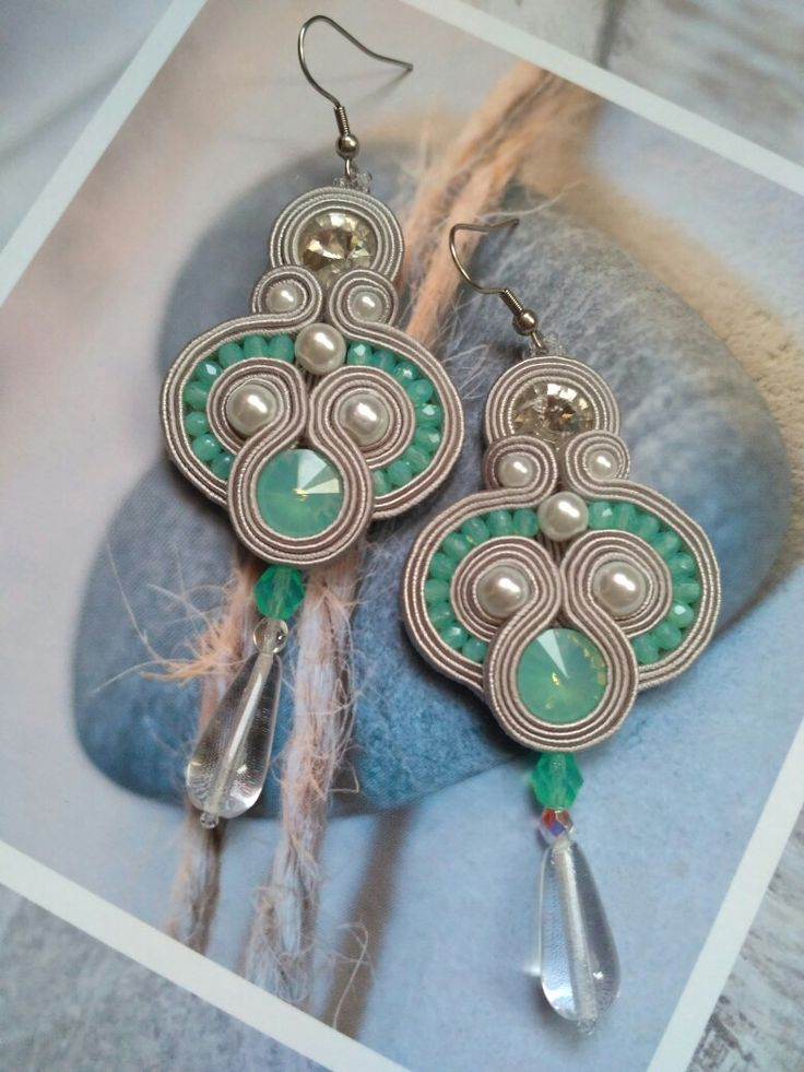Soutache 💙 teardrops 💙 pearls 💙 I LOVE MY HOBBY