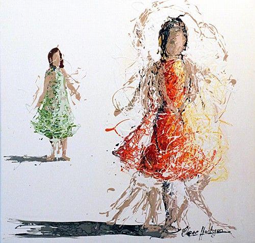 "Clare Hartigan, ""Inspire"" #art #dance #inspire #teach #bright #drips #paintdrips #pollock #splatter #painting #DukeStreetGallery"