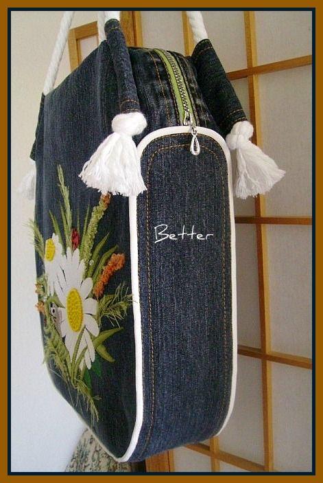 Текстильные фантазии и не только: Сумки из джинсов
