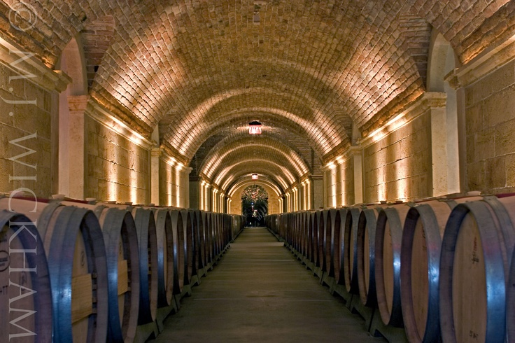 @HALLWines in Rutherford, the caves are made from imported bricks from Austria where Kathryn Hall was Ambassador for the U.S.
