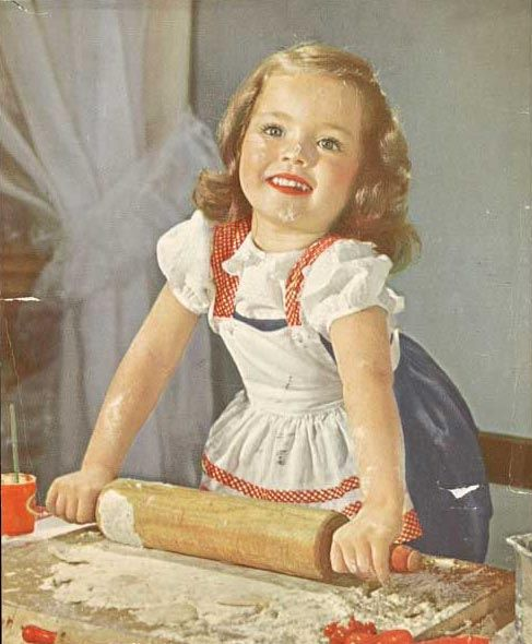 Vintage...Little Girl Baking