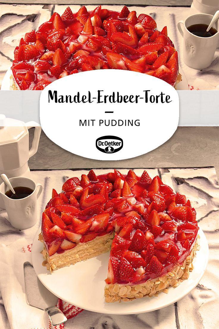 Mandel Erdbeer Torte Rezept In 2020 Erdbeer Torte Erdbeer Kuchen Und Kuchen Und Torten