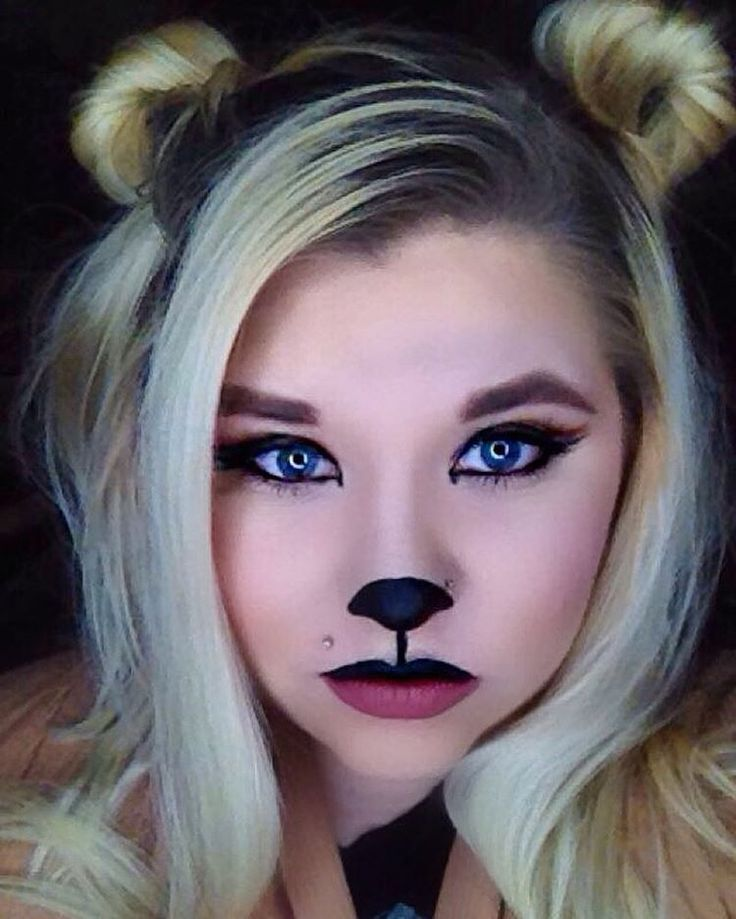 See this Instagram photo by @rusalkaqueen • For day 5 of 100days of makeup, I got my inspiration from my amazing boyfriend, who happens to love #bears. I created this #teddybear look using @tartecosmetics #swampqueenpalette and @jeffreestarcosmetics #velourliquidlipstick in #Weirdo and #Gemini.