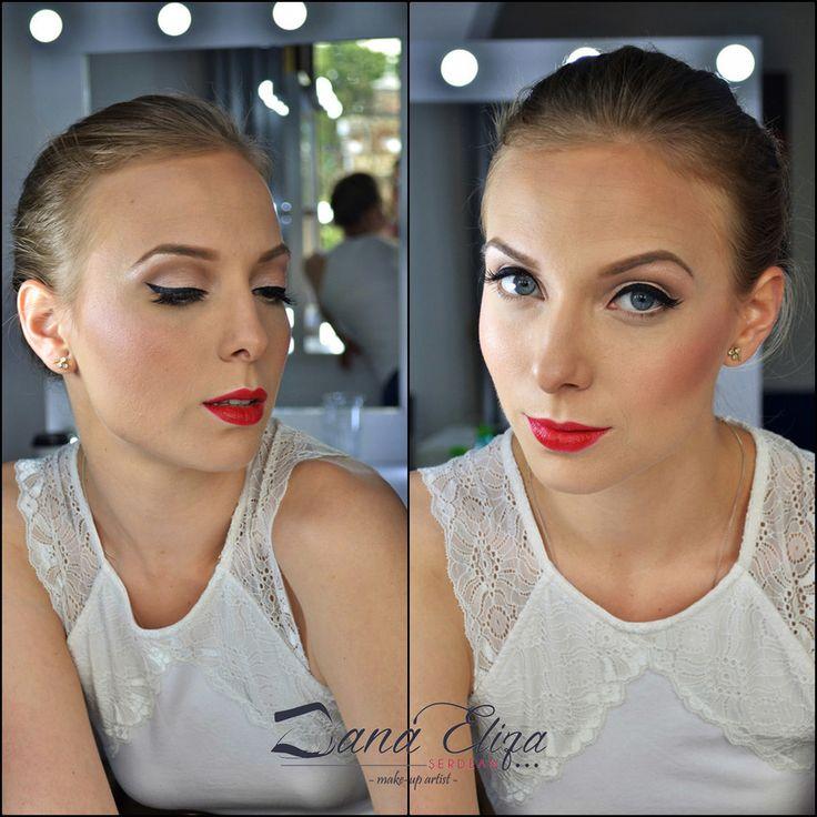 Machiaj pentru Nunta sau Evenimente Speciale Ruj Rosu ❤️ Wedding and Special Events Make-up Red Lips