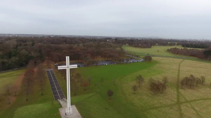 Aerial footage of the Papal Cross - Phoenix Park #dublin #lovindublin #visitdublin #drone