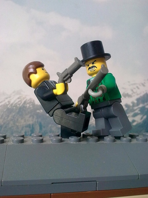 lego James Bond by stoomgek, via Flickr