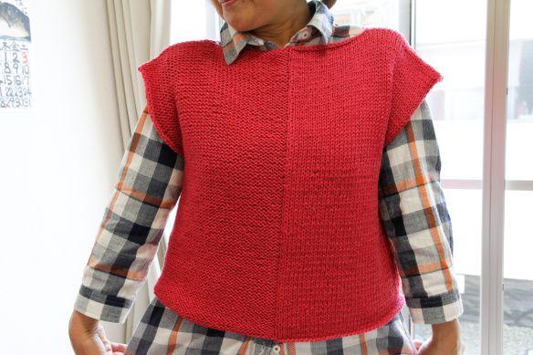 ピンクのベスト Pink Vest | Yarn Alive