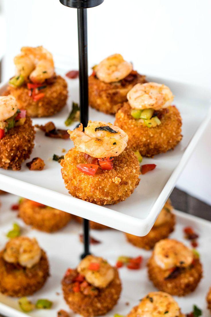 Shrimp & Grit Cake Bites are a mini version of a classic, coastal dish!