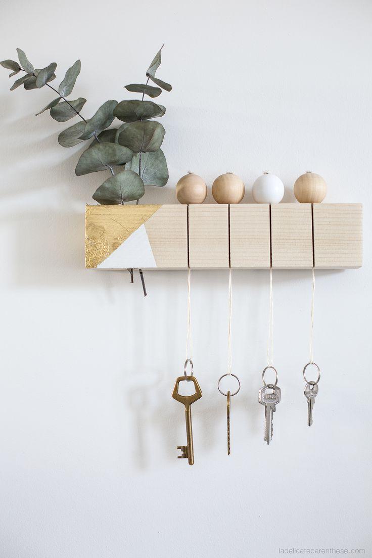[ DIY ] Un tasseau de bois recyclé en porte clef épuré
