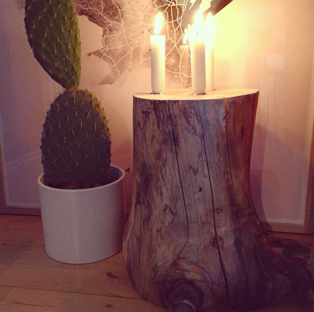 Candle wood stump