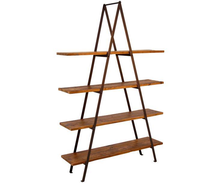 Great Machen Sie Ihr Wohnzimmer mit Regal Vintage aus Holz und schwarzem Metall zur Wohlf hloase Entdecken