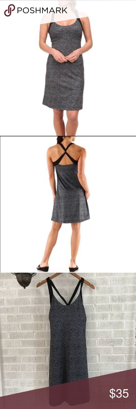 Patagonia Morning Glory Dress EUC - selling a Patagonia Morning Glory Dress in the Diamante Graphic (Black). This dress is fun, flirty, and feminine, while not compromising style or comfort. It's a flattering dress that can easily be dressed up or down.   Features: - Soft, stretchy jersey-knit fabric - Wicks/dries quickly - Shelf bra for support - Underbust seam + side gathers add contour, shape, and flattering fit - Wide cross-back straps with a twist - Above-the-knee length  Item comes…