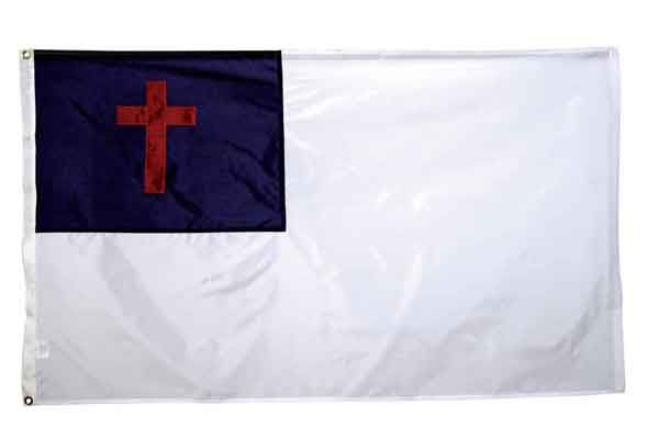 High Wind, US Made, Nylon Christian Flag 3x5
