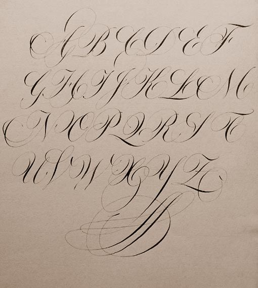calligraphie, anglaise, alphabets, lettres, stages et cours, mail-art, enveloppes calligraphies, logos, calligraphy