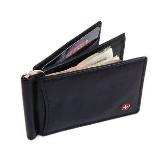 Mens Leather Wallet Money Clip Spring Front Pocket Wallet 11 Cards Thim Slim Billfold Sale: $9.99