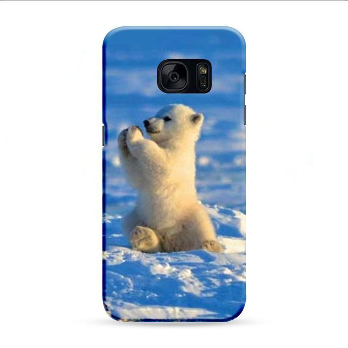 Polar Bear Baby On Ice Samsung Galaxy S7 Edge 3D Case