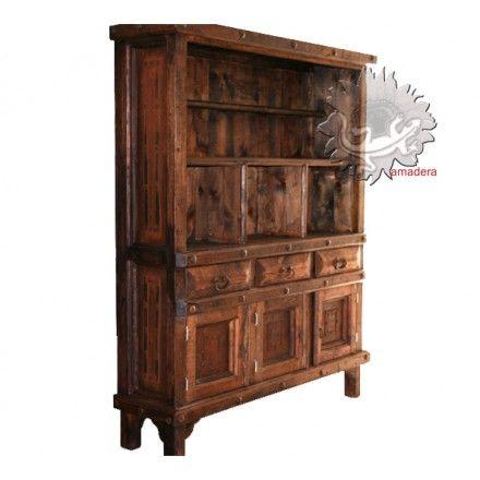 Grand meuble mexicain en bois, meuble de rangement mobilier mexicain