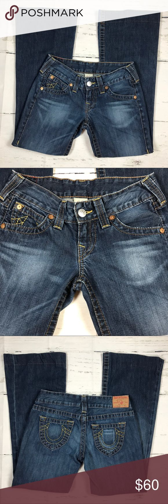 "True Religion Candice Jeans Sz 27 Model WB82358E4J True Religion Women's Jeans Size 27 ""Candice"" New Model WB82358E4J Made in U.S.A  Brand: True Religion Color: Blue Tag Size: 27 on the tag label, (Real sizes 30/29) Material: 100% Cotton Condition: This jean hem had been alter do to the fit and I'll provide the measurements length. Condition of the jean is good.  Measurements Waist: 15"" x2 = 30"" Inseam: 29"" Rise: 7 1/2"" Leg Opening: 10"" Length: 37 1/2"" True Religion Jeans Flare & Wide Leg"