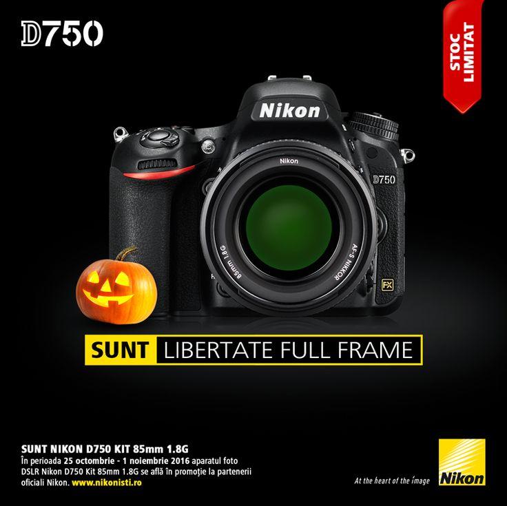 In perioada 25 octombrie - 01 noiembrie 2016 aparatul foto DSLR Nikon D750 Kit 85mm 1.8G se afla in promotie la partenerii oficiali Nikon.