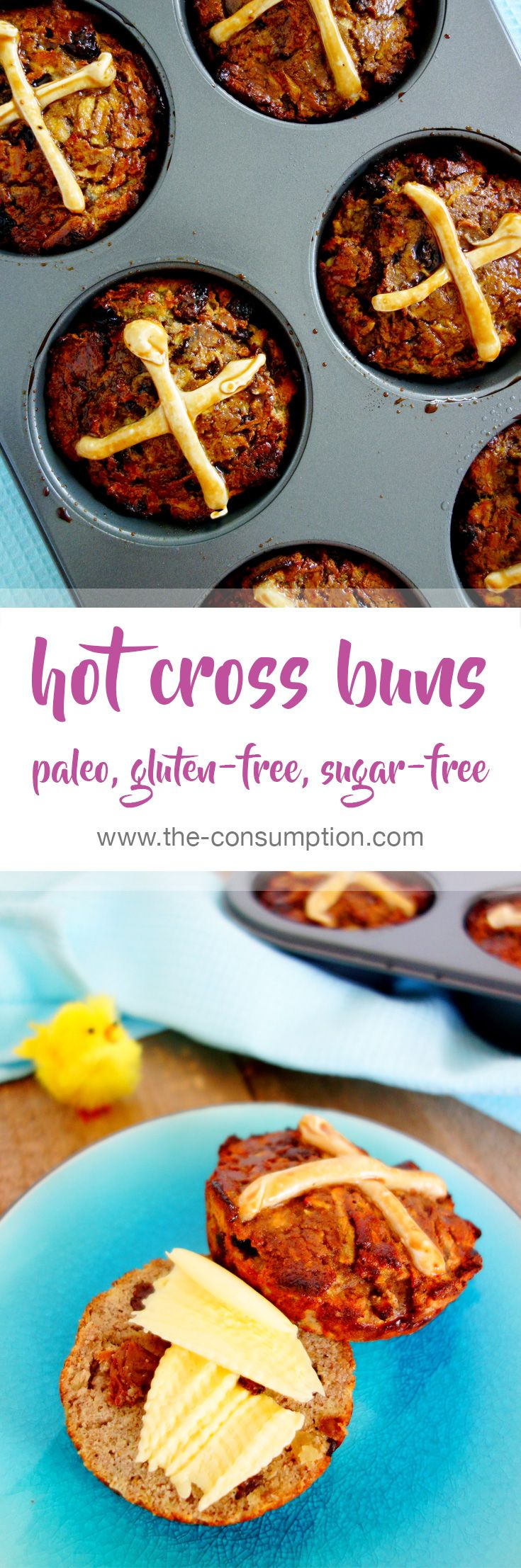 Easter Hot Cross Buns – Paleo, Gluten and Refined Sugar Free