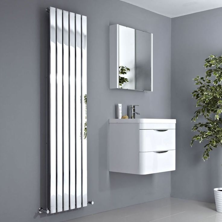 The Quebec Chrome 1600x452mm vertical flat panel radiator combines style and functionality — manufactured from low carbon steel with a reflective, polished mirror chrome finish, its vertical shape is a great way to warm any room in your home all year long. | eBay!