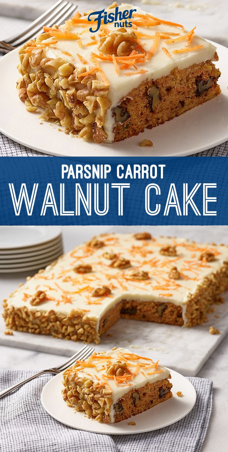 Fisher Nuts Recipe Parsnip Carrot Walnut Cake Recipe Carrot And Walnut Cake Walnut Cake Savoury Cake