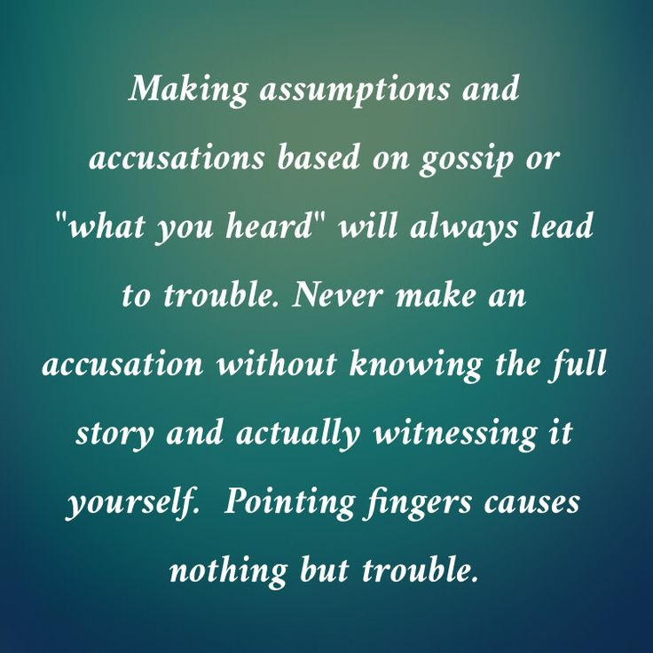 81 best Accusations-False Accusations images on Pinterest True - assume or presume