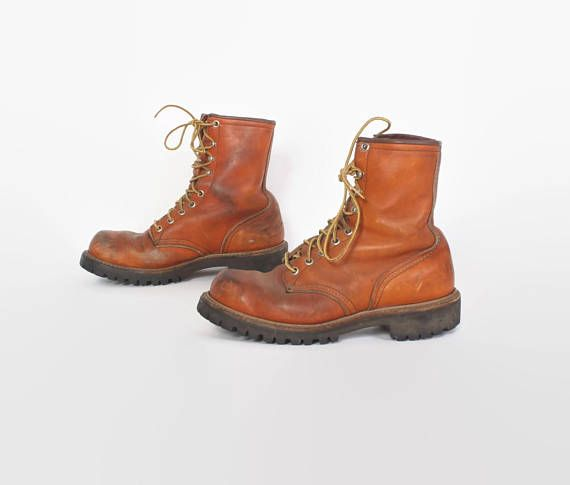 edce1e14148cf Vintage 80s Red Wing BOOTS / 180s Women's Irish Setter Work Hunting ...