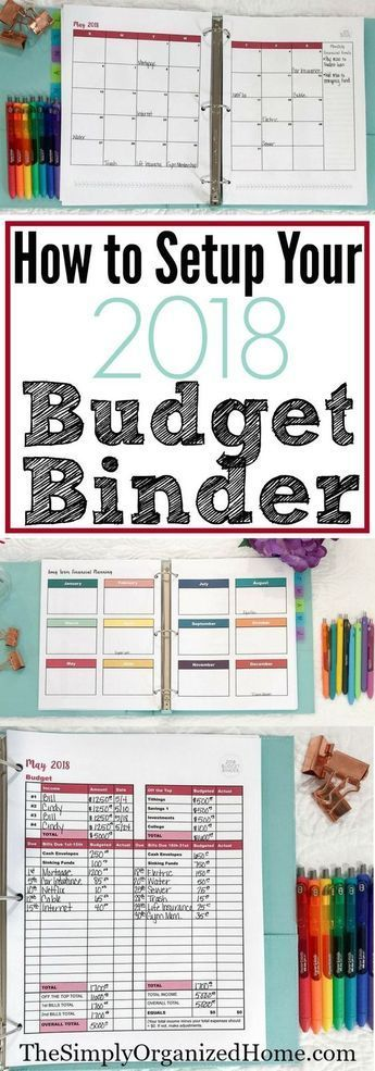 How to make your 2018 budget binder