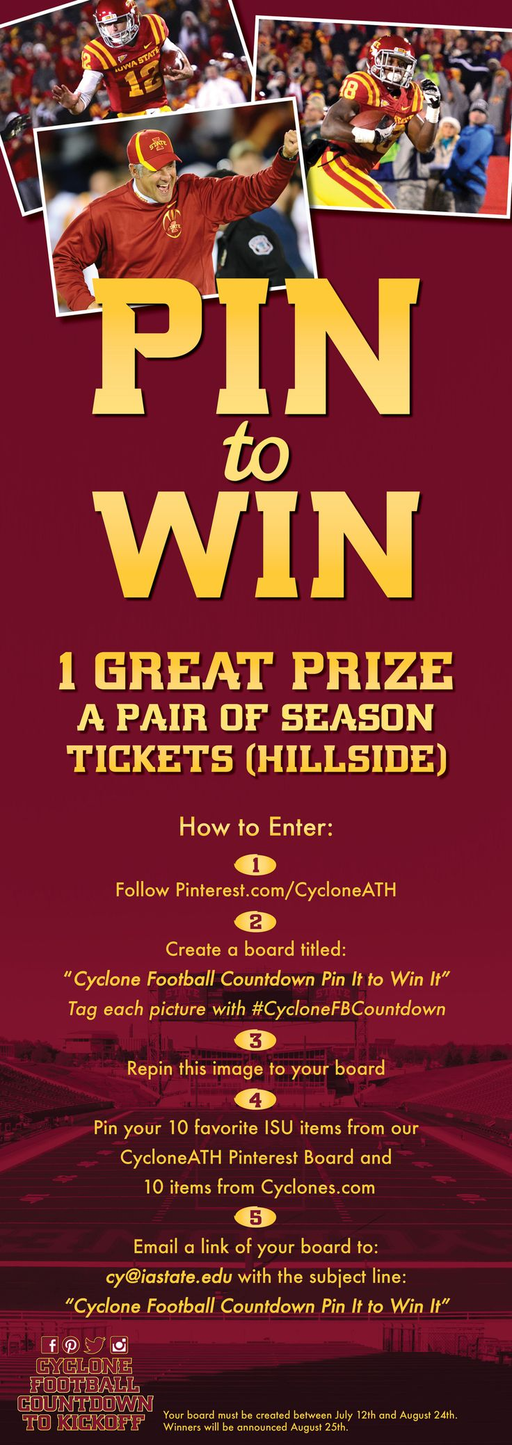 Enter our Pin to Win Contest for a chance to win hillside season tickets!