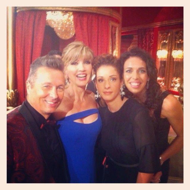 """Nadia Centoni e Monica De Gennaro ospiti a """"Ballando con le stelle"""" insieme a Milly Carlucci."""