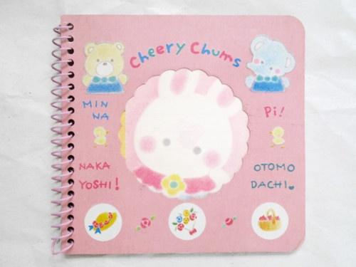 VINTAGE 1979, 1989 SANRIO CHERRY CHUMS Small Collectible Spiral Notebook RARE!!!