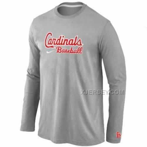 http://www.xjersey.com/stlouis-cardinals-long-sleeve-tshirt-grey.html ST.LOUIS CARDINALS LONG SLEEVE T-SHIRT GREY Only $30.00 , Free Shipping!