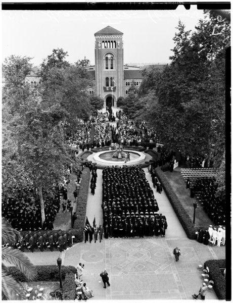 University of Southern California graduation, 1955