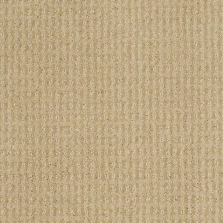 STAINMASTER Active Family St John Chamomile Berber/Loop Carpet Sample
