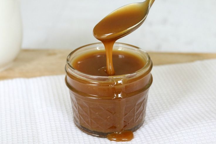 This is the easiest Thermomix Salted Caramel Sauce recipe ever! You only need 4 ingredients and less than 10 minutes to make it. #thermomix