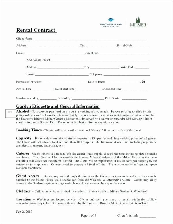Event Venue Contract Template In 2020 Contract Template Event