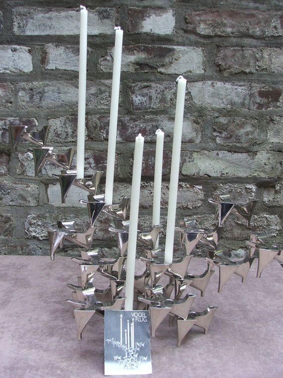 Mitte des Jahrhunderts VOGELFLUG-Kerze-Halter von ScAJanusCOLOGNE