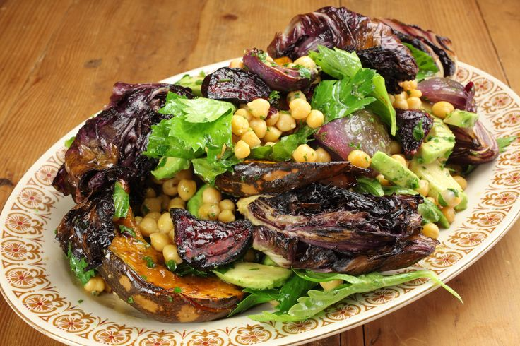 Cheat's Chickpea, Pumpkin and Roasted Onion Salad - Maggie Beer