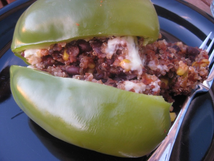 Vegetarian Stuffed Peppers, quick and easy recipe