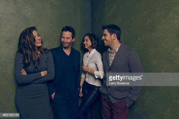 Actors Lorenza Izzo Keanu Reeves Ana De Armas And Actor Producer Keanu Reeves Actors Ana